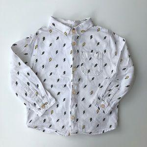 Zara | Baby Boy Lighting Strike Button Down Shirt